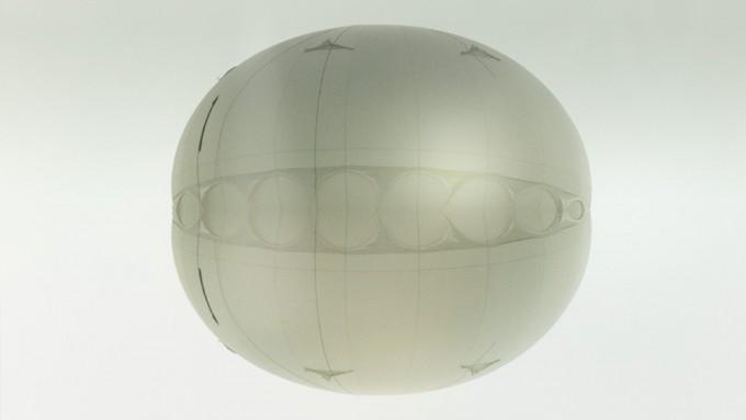 Glass shiny orb