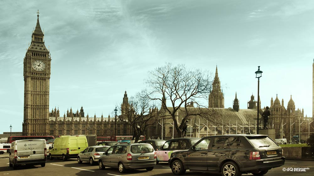 Car traffic around the Big Ben and Parliament SKU: la-0006