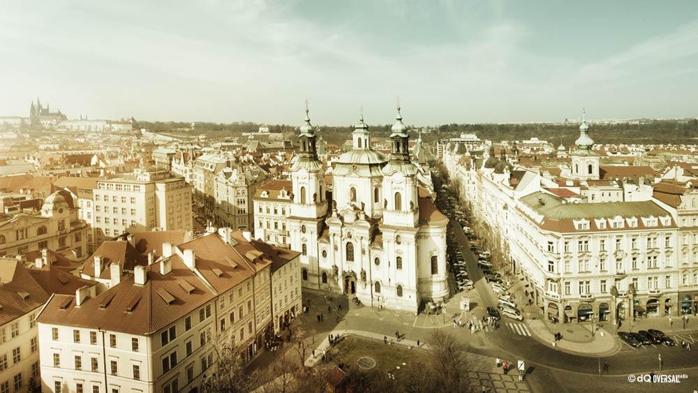 Vista antigua de la ciudad desde la torre SKU: la-0012