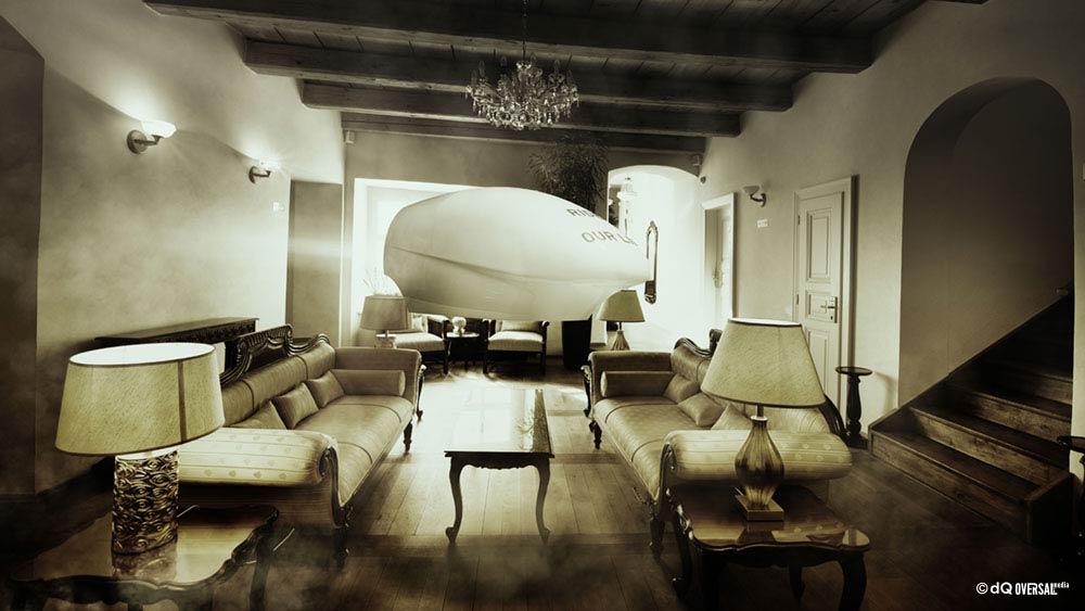 Sunny hotel lounge interior SKU: li-0008